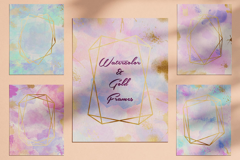 Watercolor Invitation Frames example image 1