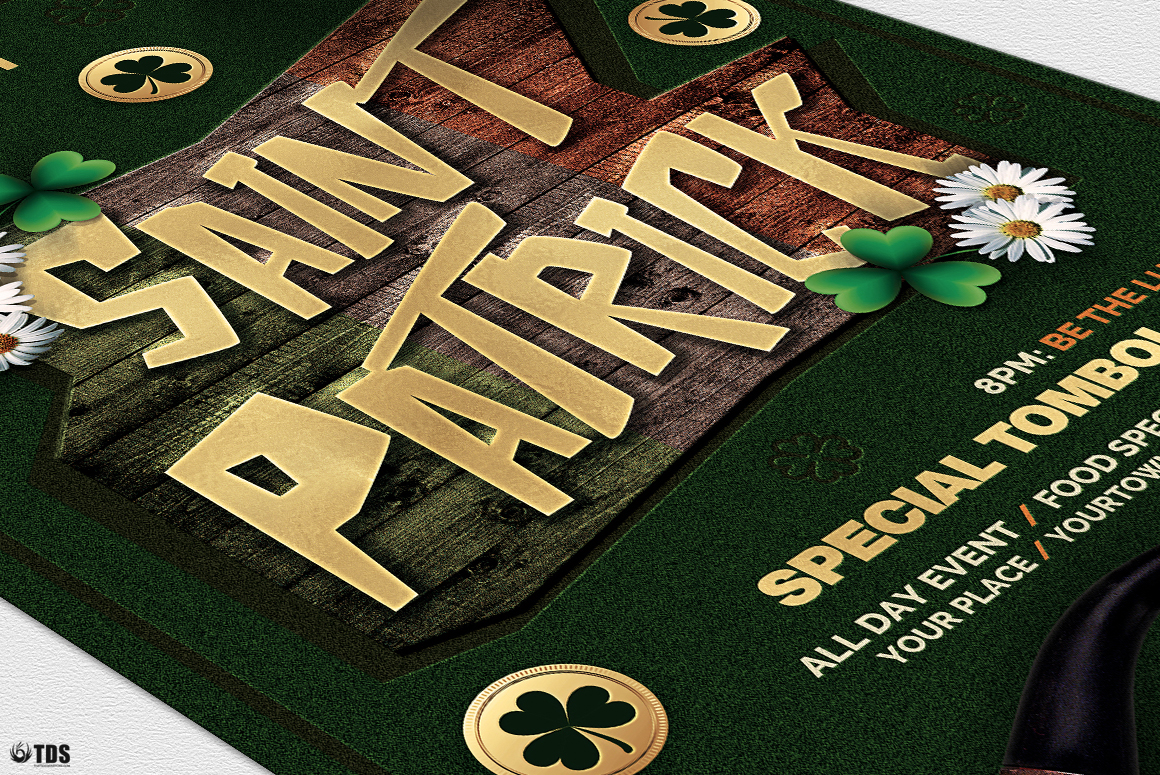 Saint Patricks Day Flyer Template V6 example image 6