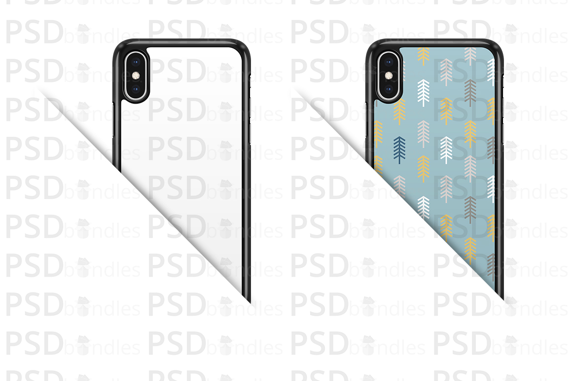 Apple iPhone XS MAX 2d Case Design Mock-up Back View example image 2