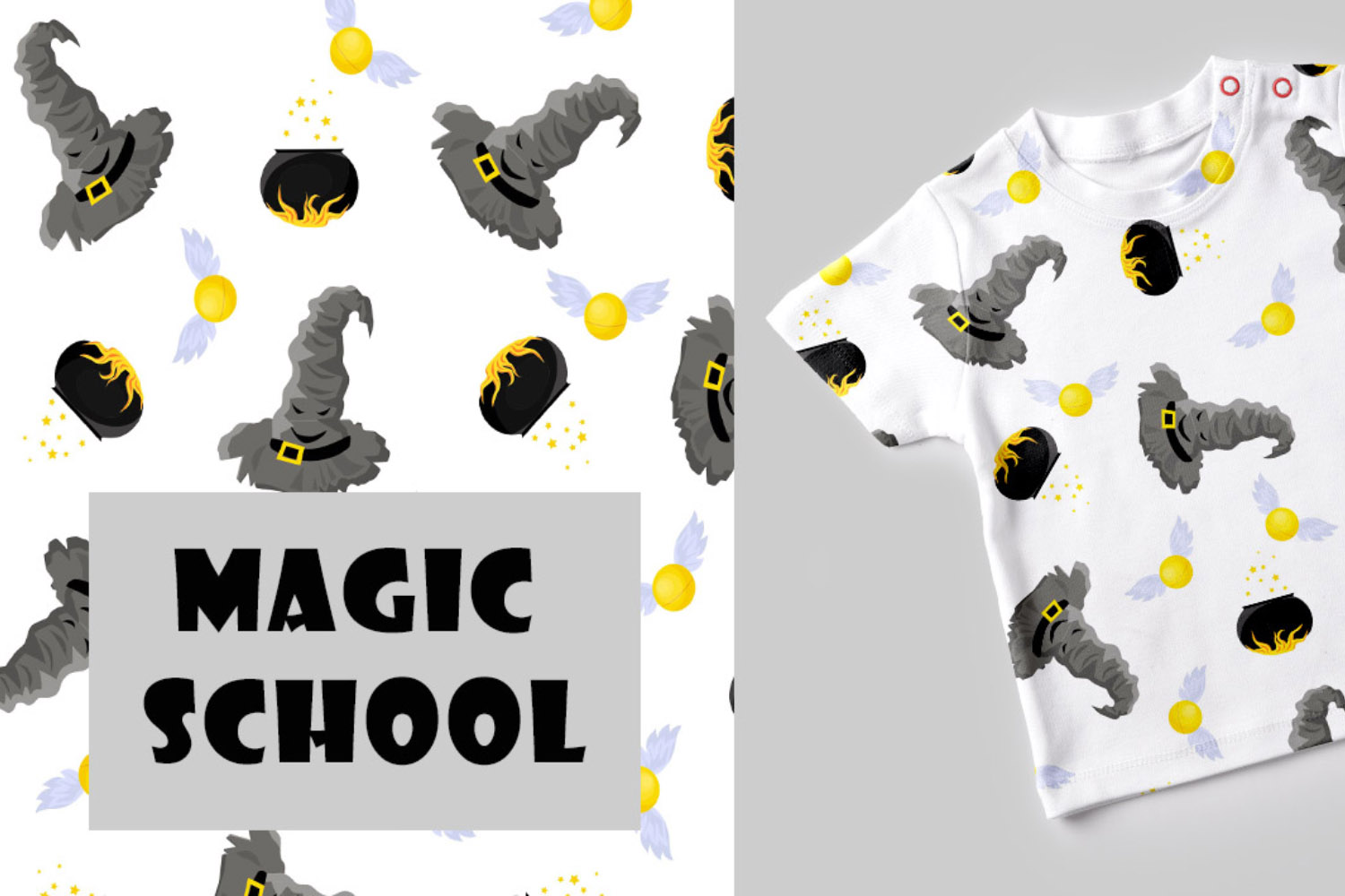 School of Magic Pattern Set Theme - Harry Potter, Hogwarts example image 2