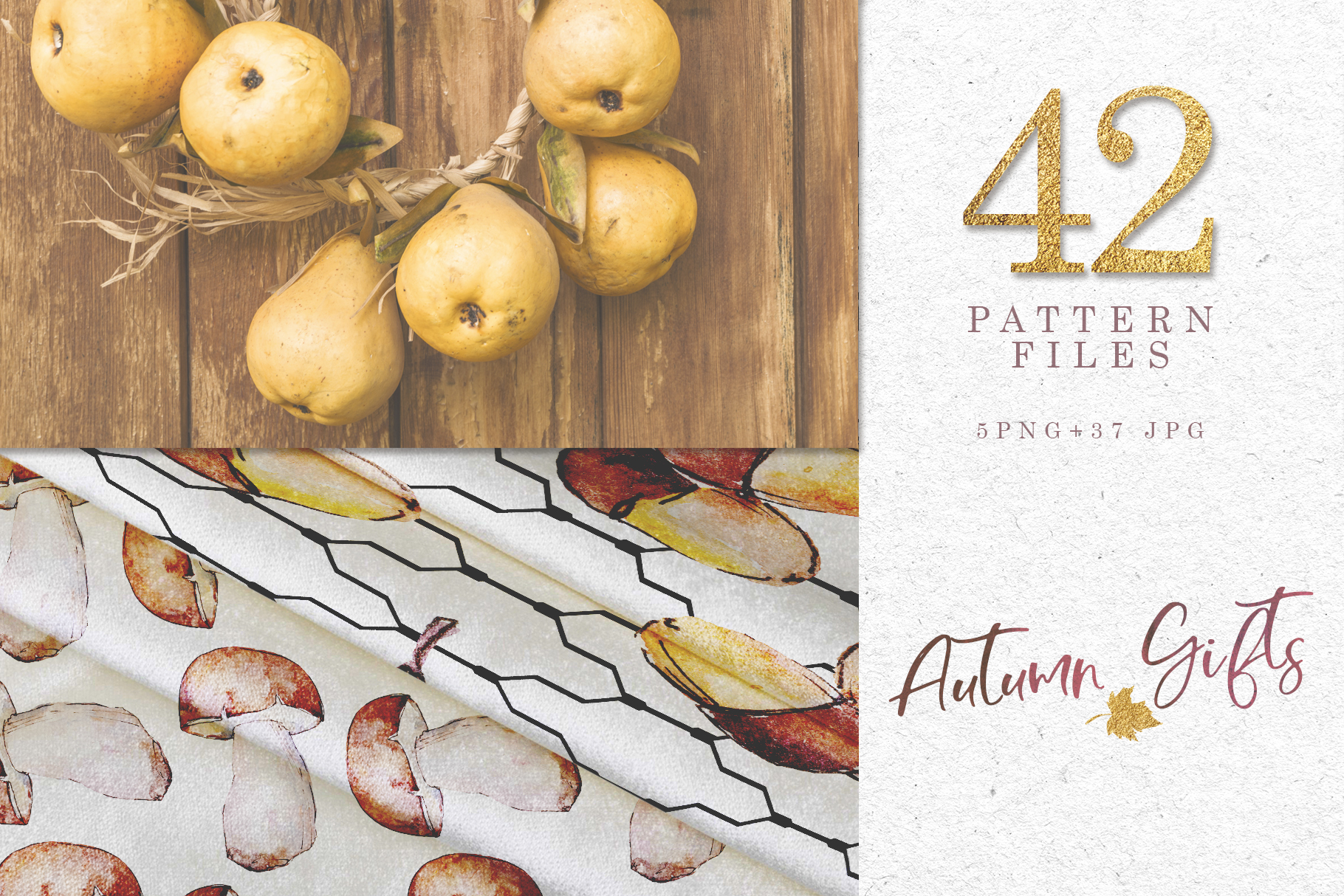 Gifts of autumn PNG watercolor set example image 3