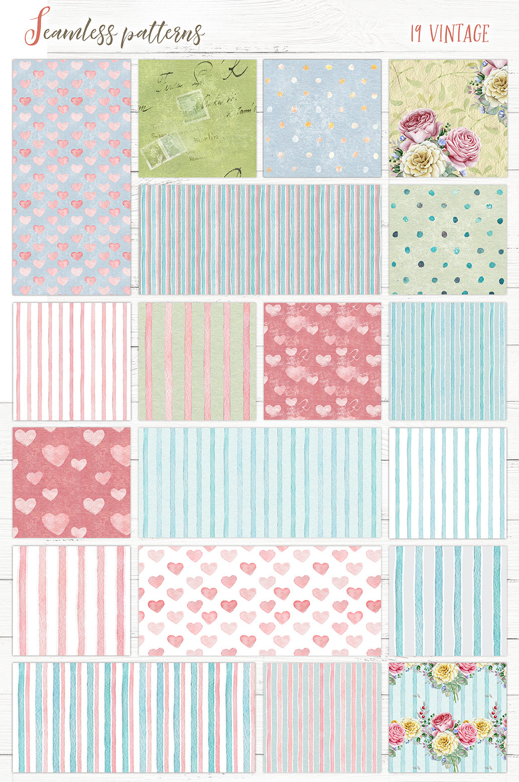 Watercolor Patterns and Textures example image 5