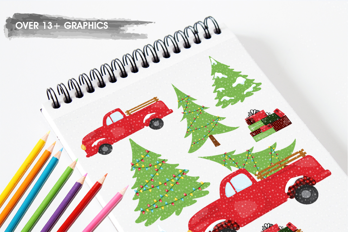 Christmas Tree graphic and illustrations example image 5