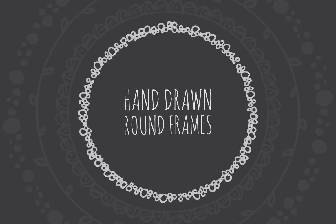 90 Hand Drawn Decorative Round Frames example image 1