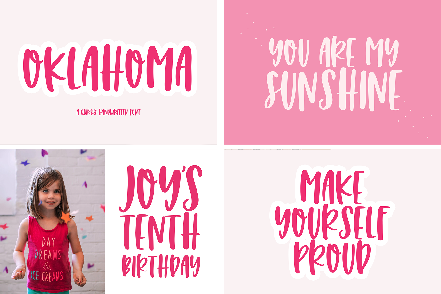 The Mini Crafty Bundle - 10 Fun & Quirky Fonts example image 4