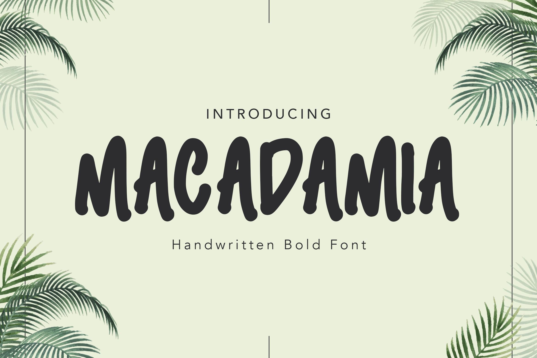 Macadamia Handwritten Font example image 1