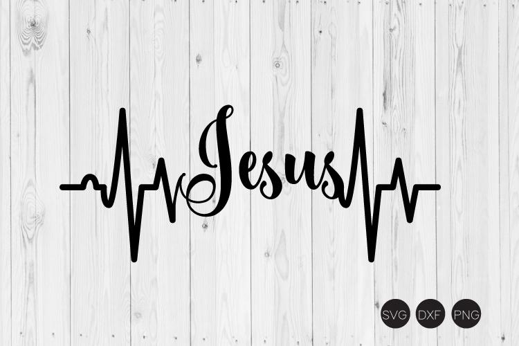 Jesus Heartbeat SVG example image 1