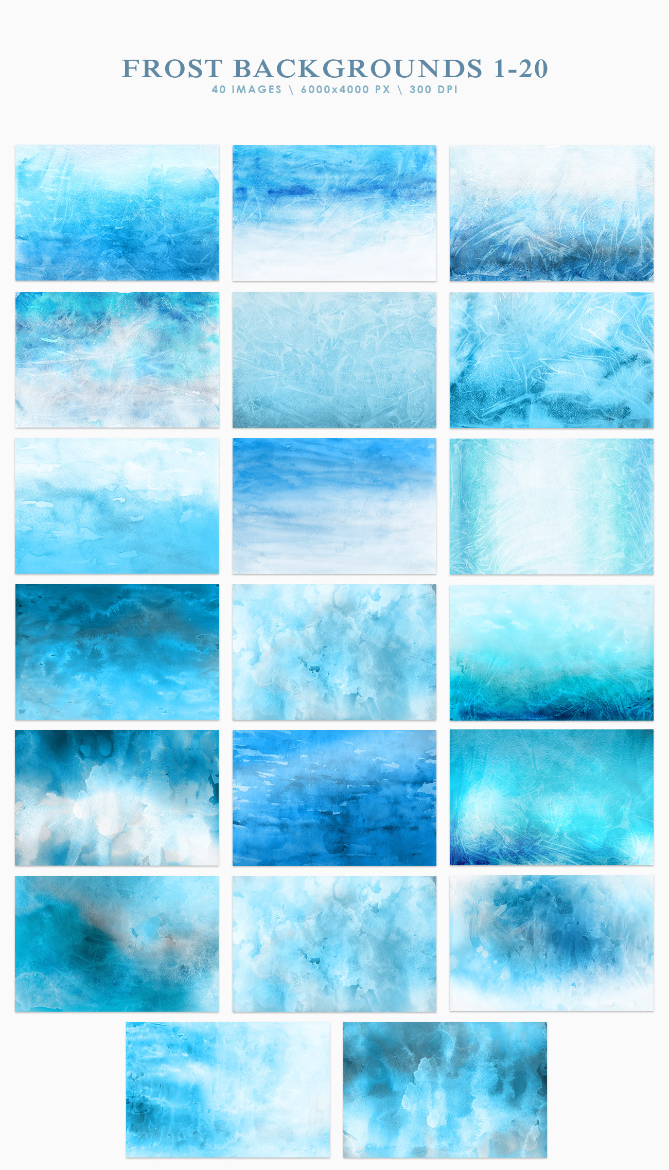 Frost Watercolor Backgrounds example image 2