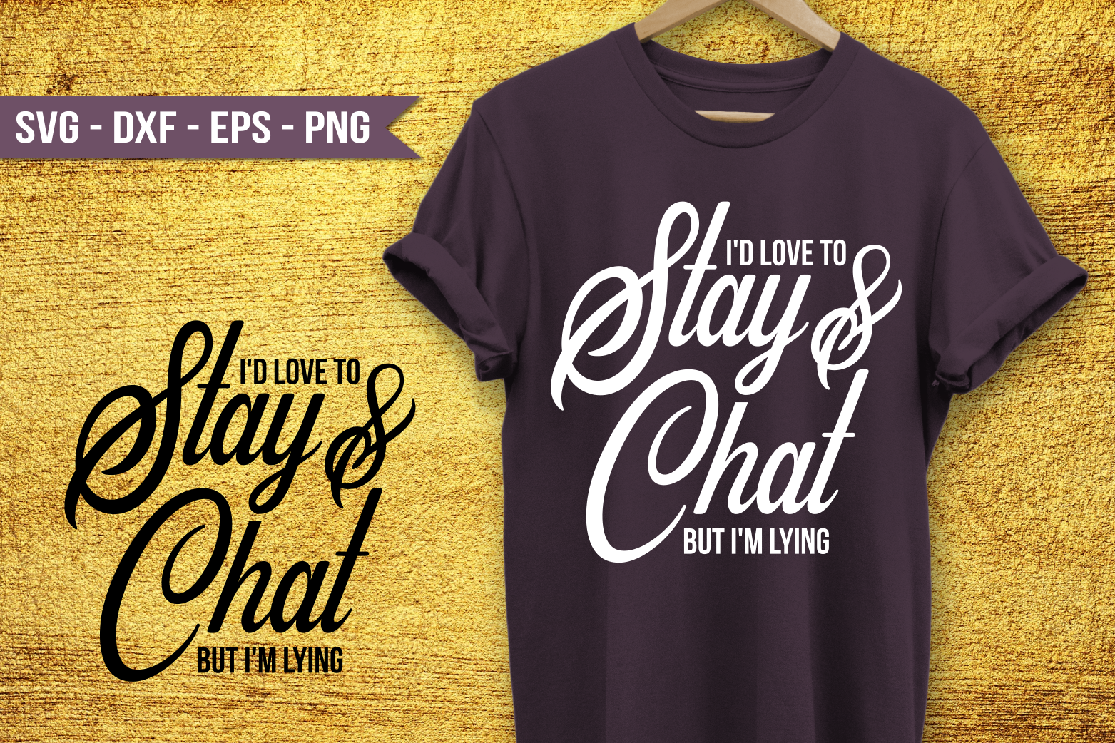 Id love to stay and chat SVG example image 1