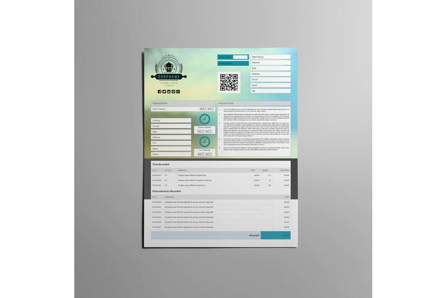 Business Invoice US Letter Template example image 4