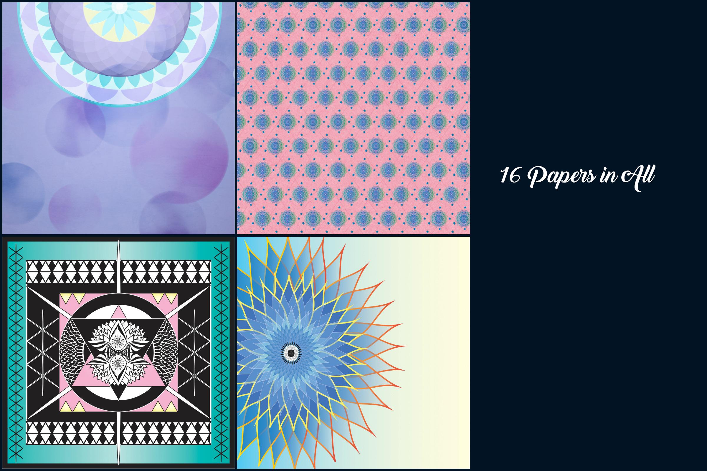 Mandala Digital Papers example image 4