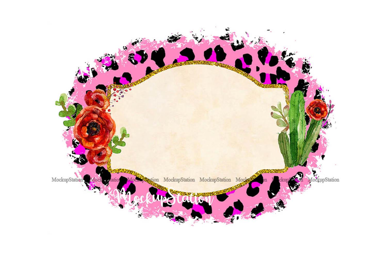 Sublimation Background Frame PNG, Planner Clip Art Frame example image 1
