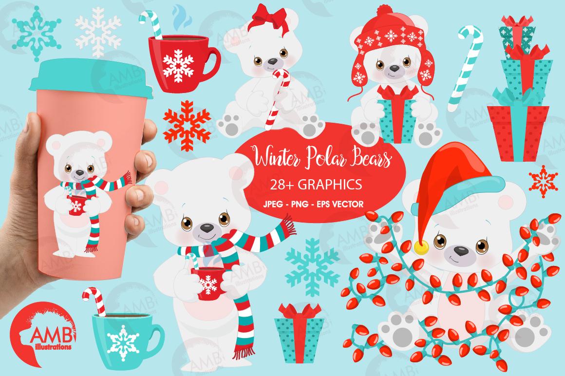 polar bear clipart winter bear clipart christmas bear. Black Bedroom Furniture Sets. Home Design Ideas