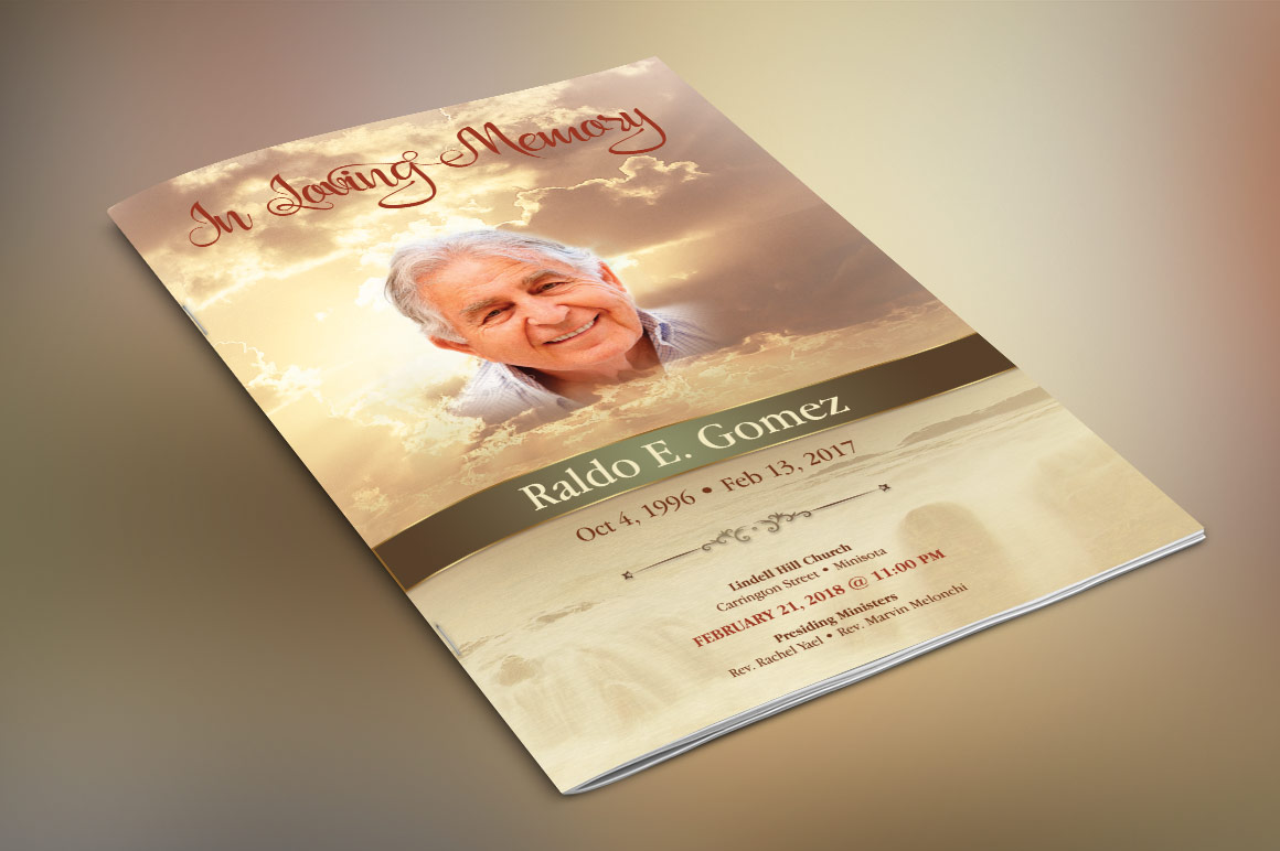 Forever Funeral Program Template example image 4