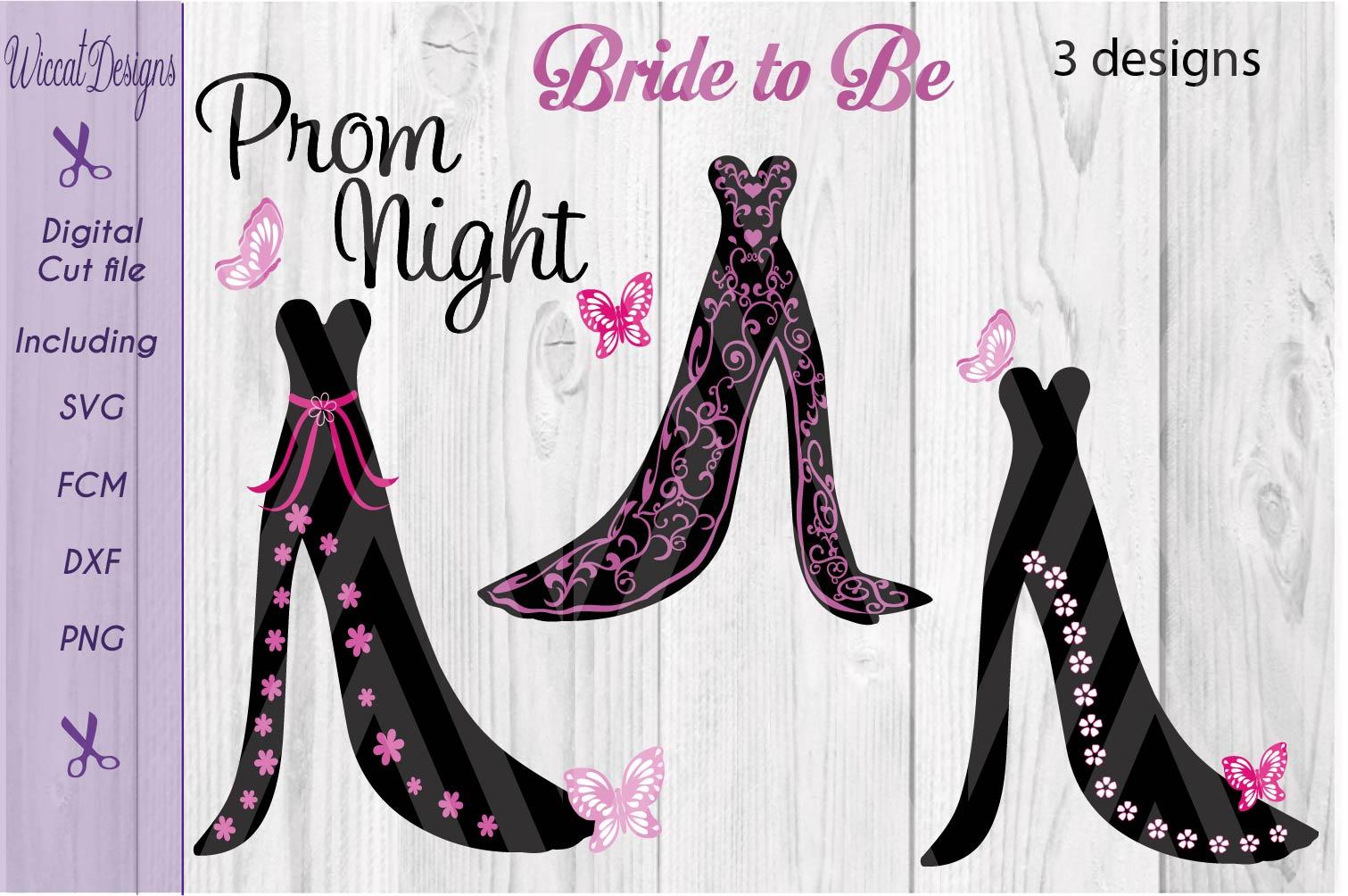 Dress svg, bundle svg, Prom svg, Bridal Gown svg,  example image 1