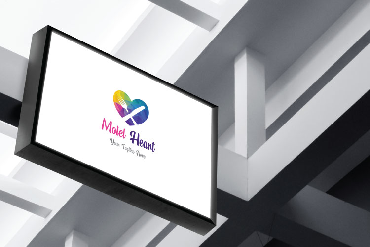 Heart Shape, Restaurant Logo example image 3