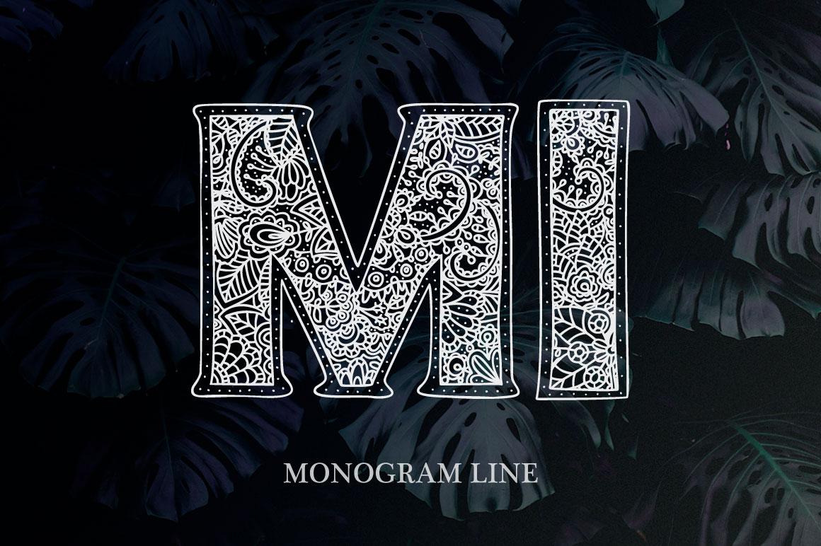 Monogram. 5 elegant fonts. example image 2