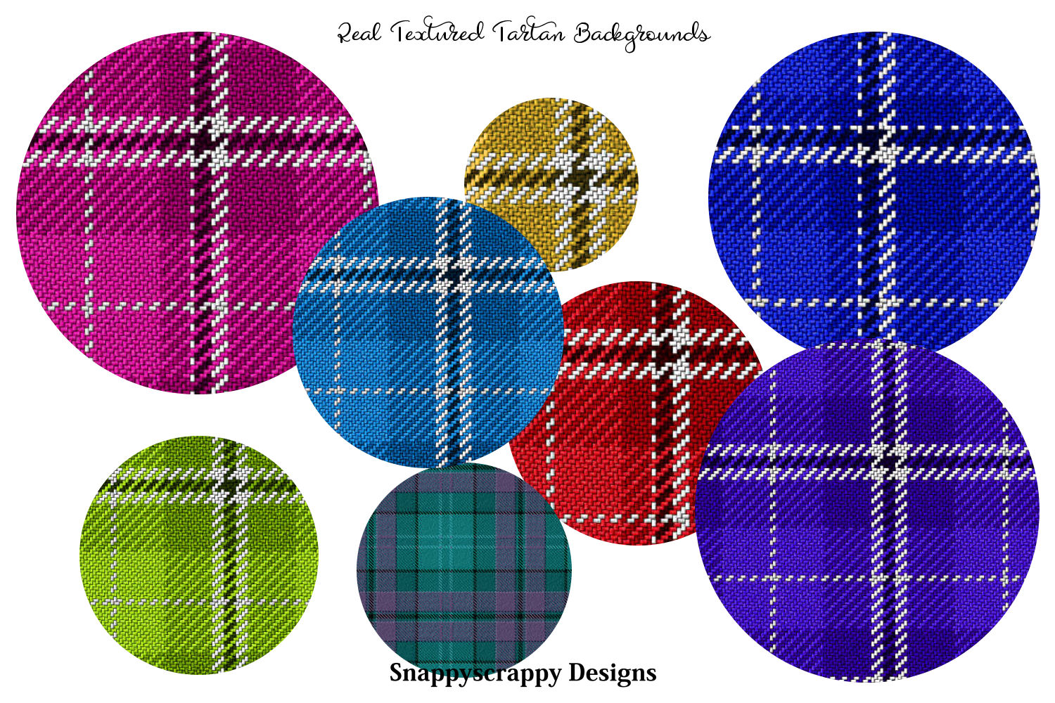 Textured Tartan Background Papers example image 2