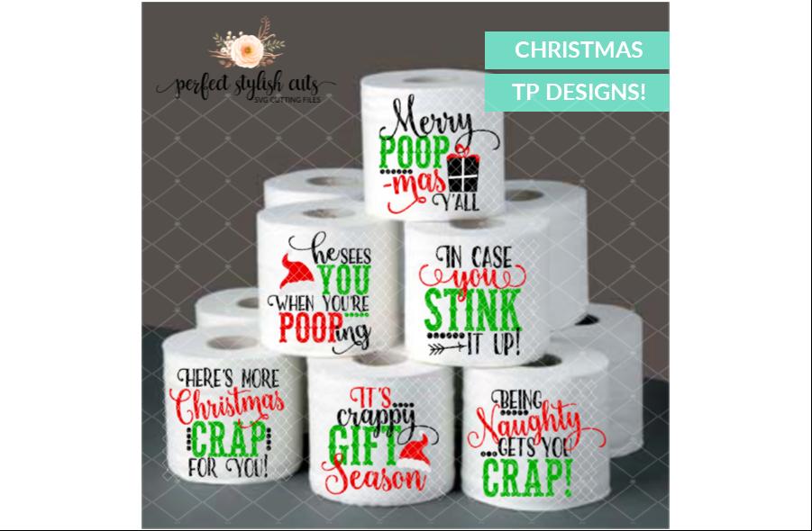Christmas SVG - Christmas Toilet Paper SVG Bundle example image 2