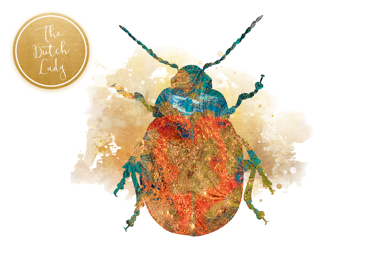 Scarabs & Beetles Clipart Set example image 3
