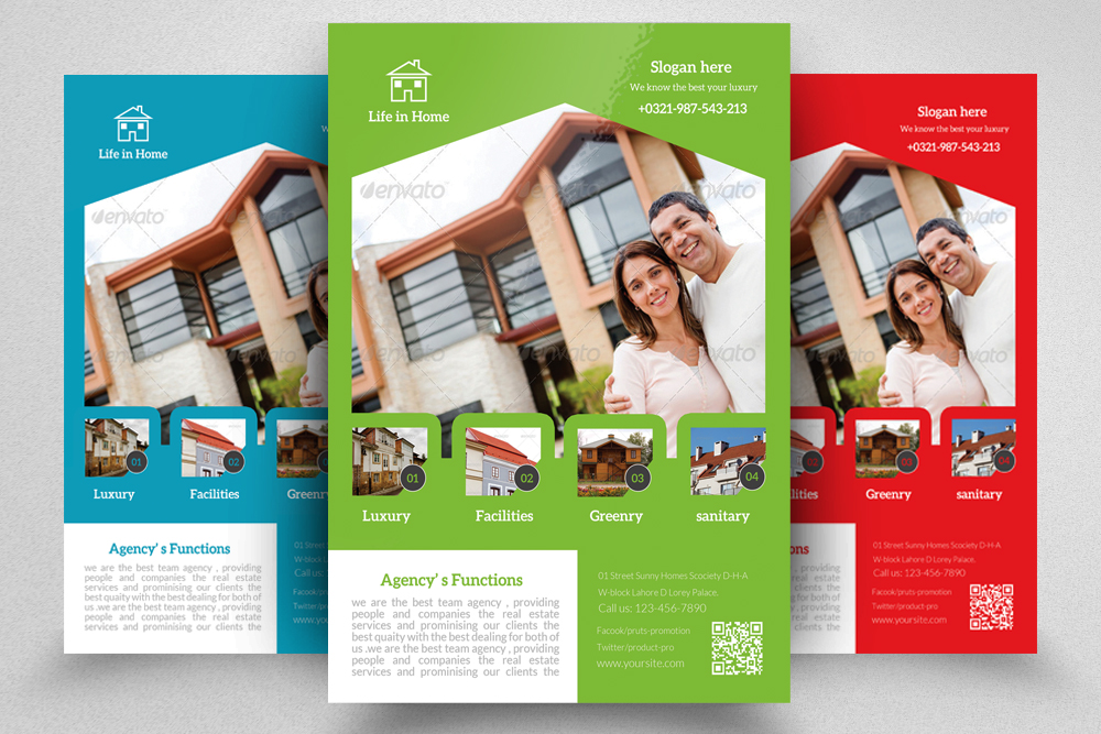 6 Real Estate Agency Flyers Bundle example image 4