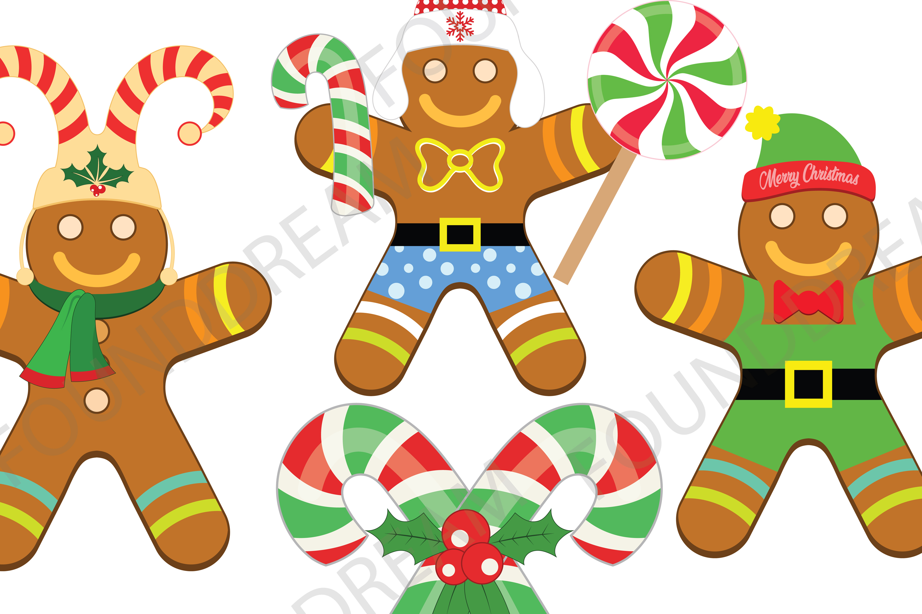 Christmas Gingerbread Clip art example image 2
