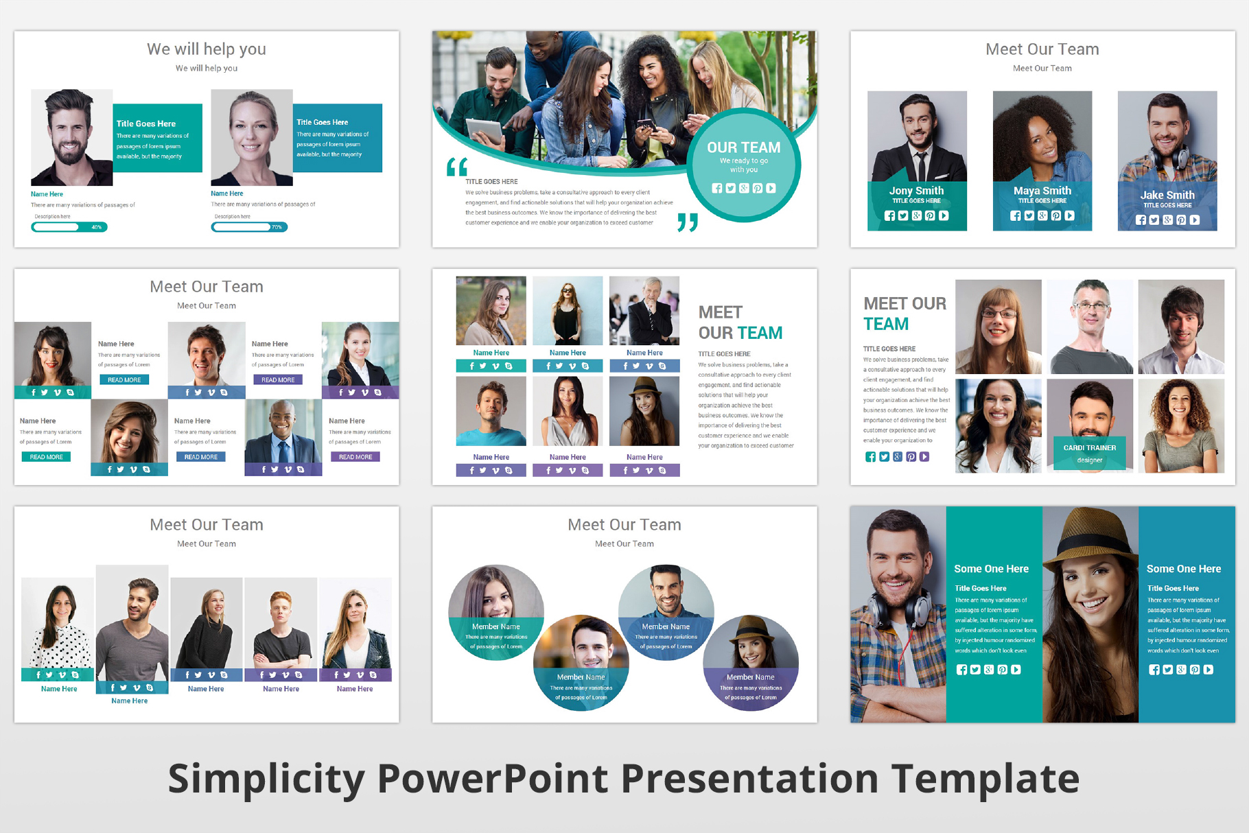 Simplicity multipurpose PowerPoint Presentation Template example image 8