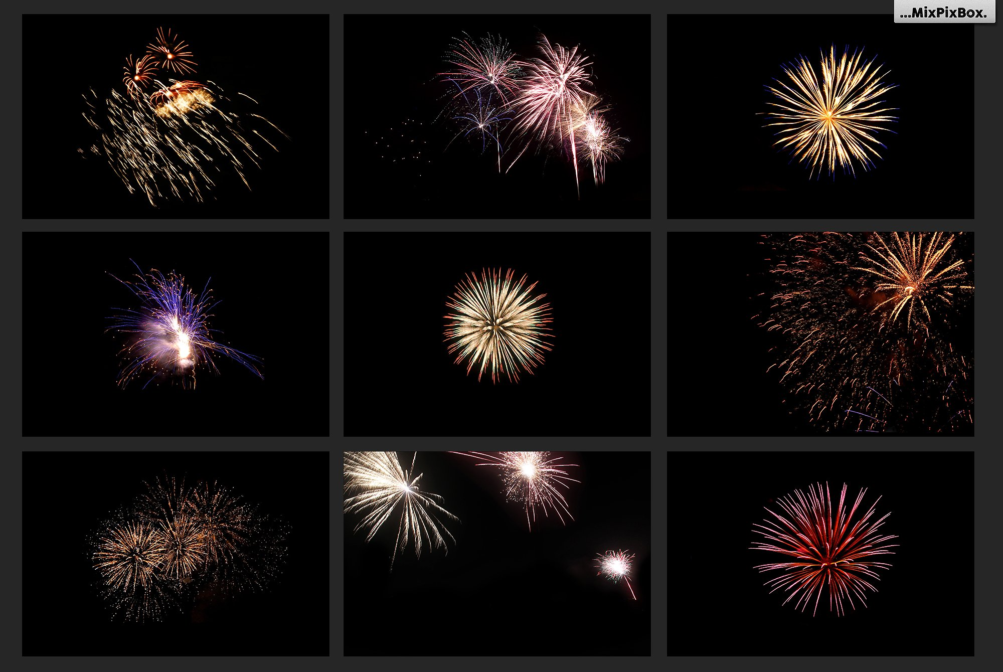 100 Fireworks Overlays example image 12