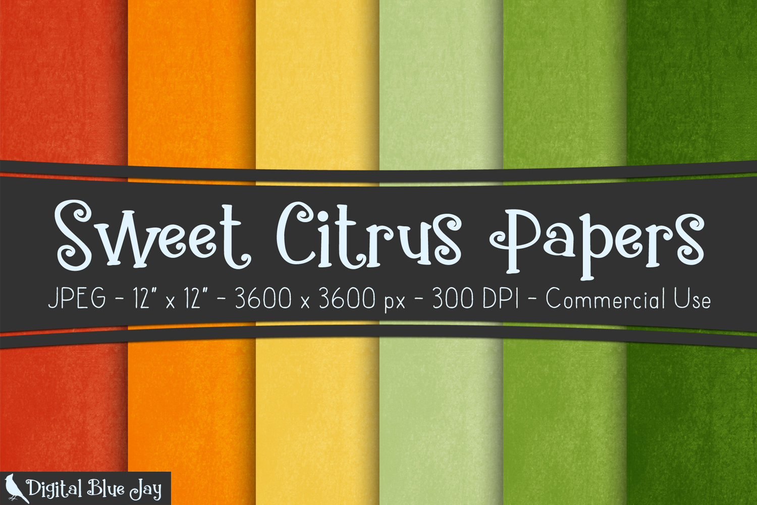 Digital Paper Textured Backgrounds - Sweet Citrus example image 1