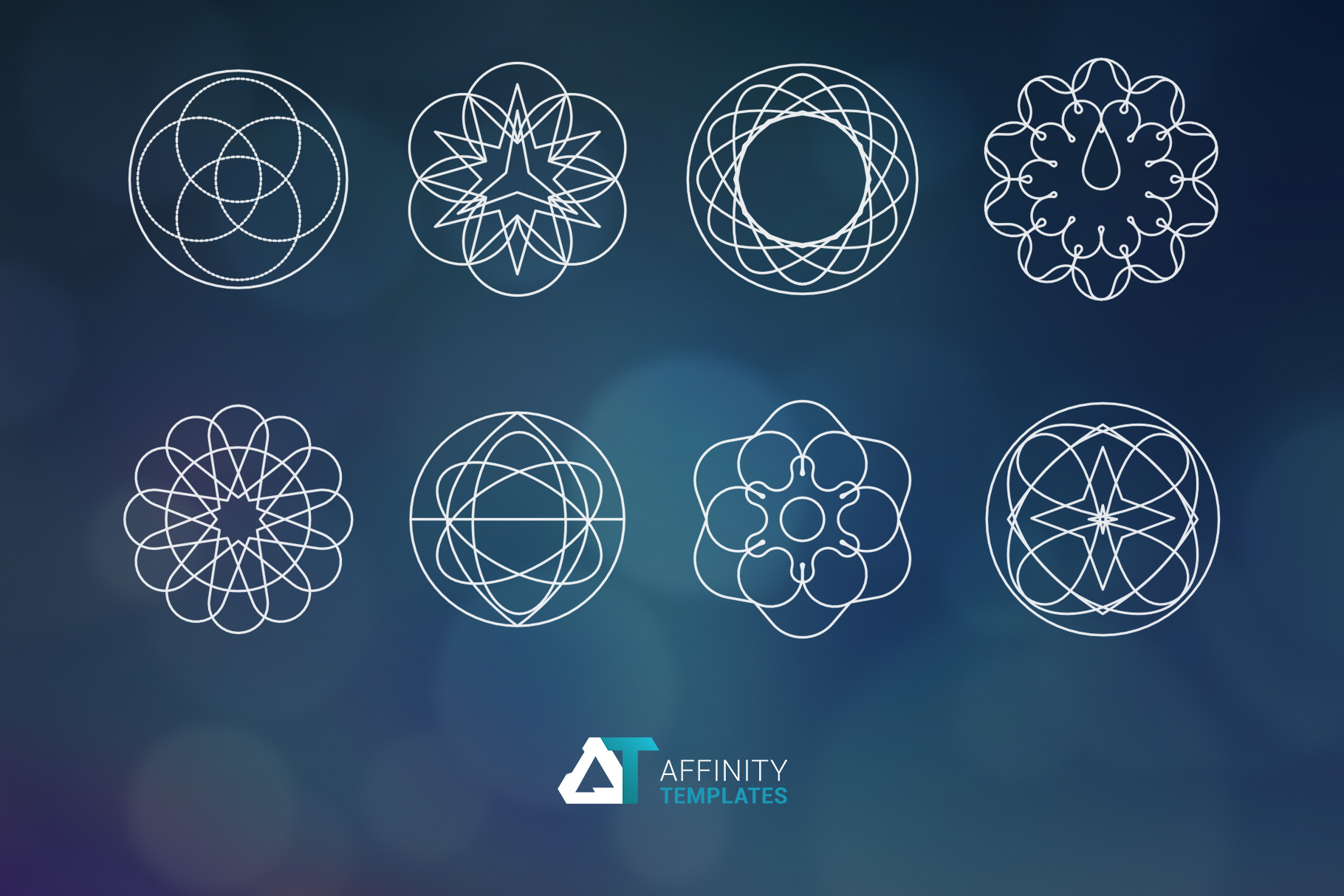 Sacred Geometry Vector Shapes Set example image 5
