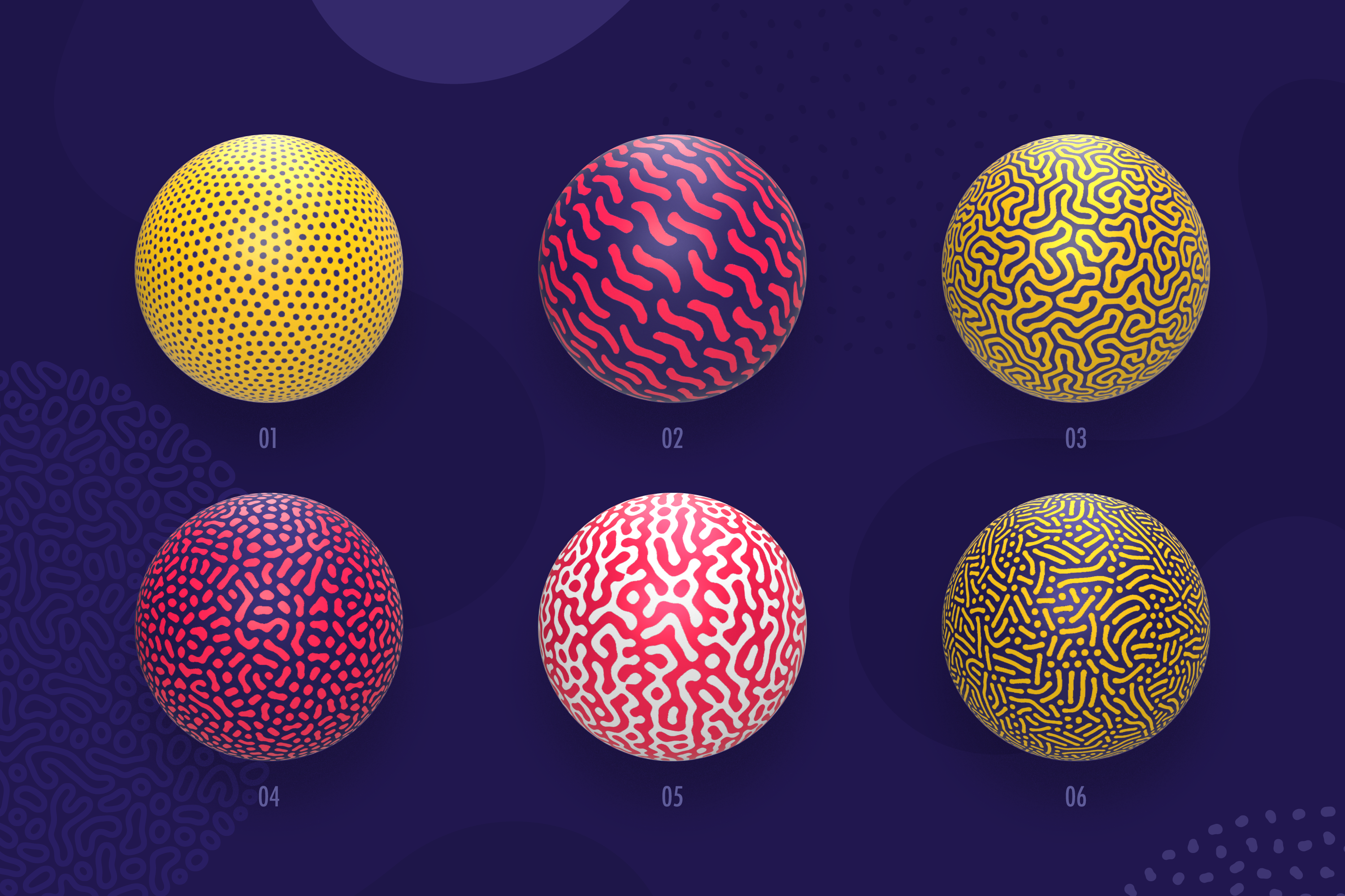 Organic Shapes 100 seamless textures collection example image 3