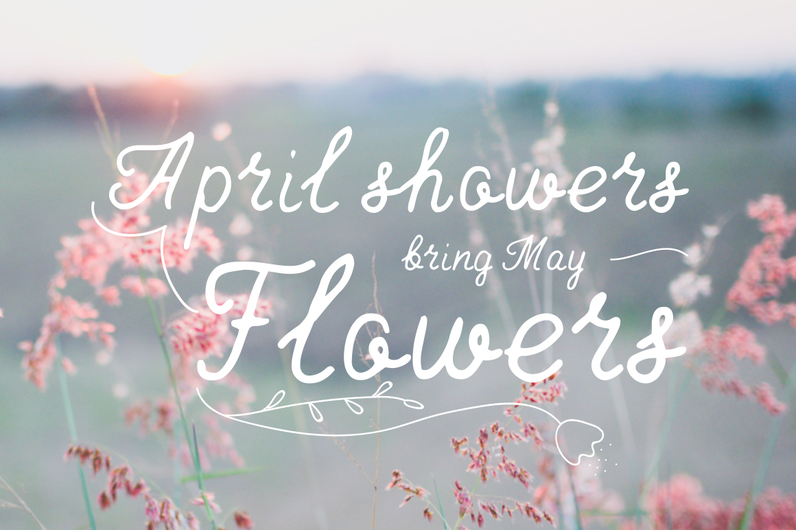 April—handwritten font example image 5