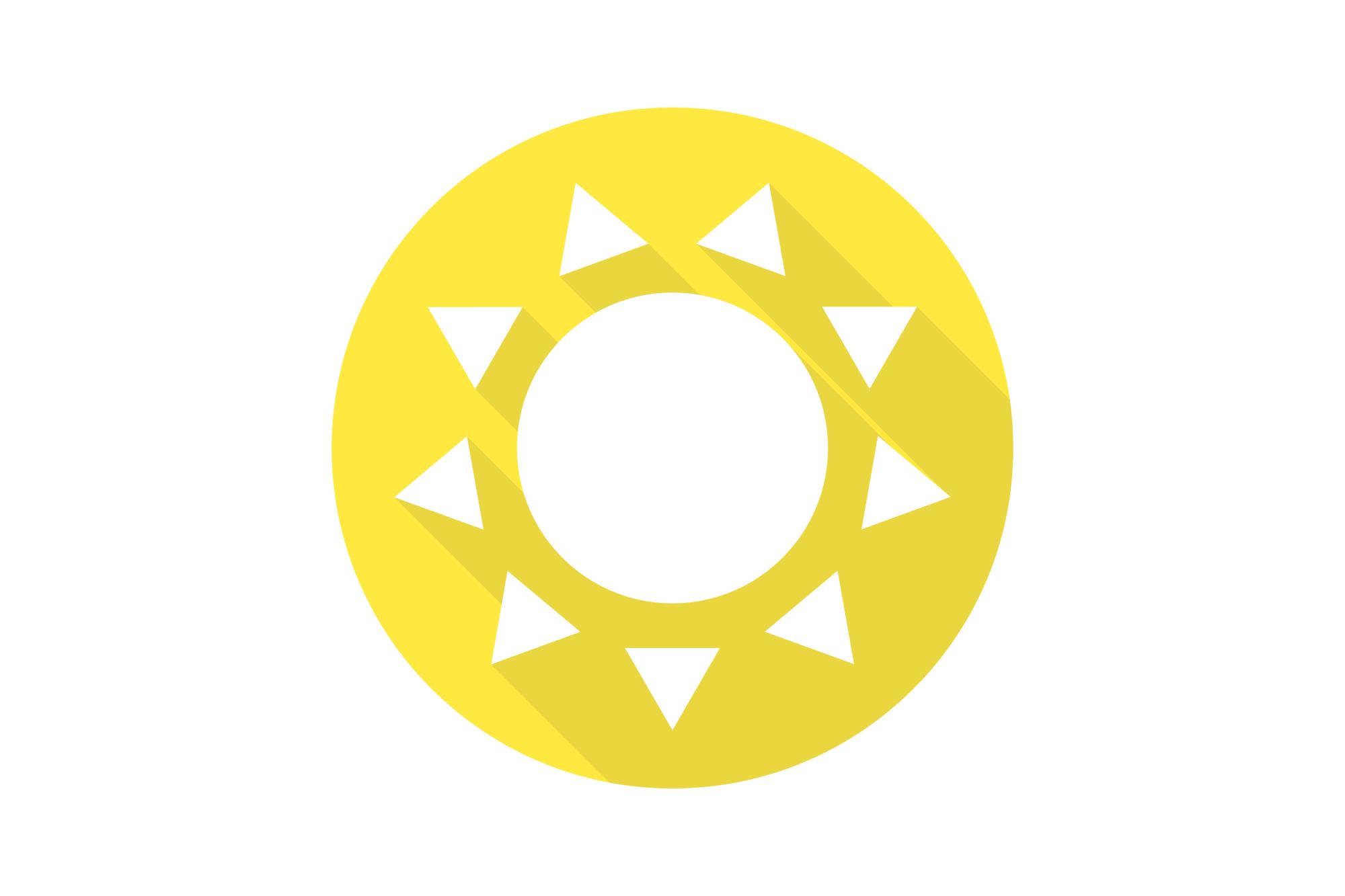 Vector sun icons set. Flat design. example image 9
