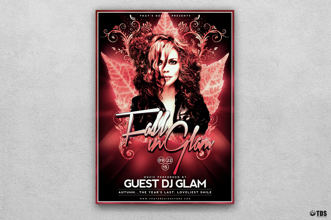 Fall in Glam Flyer Template V4 example image 1