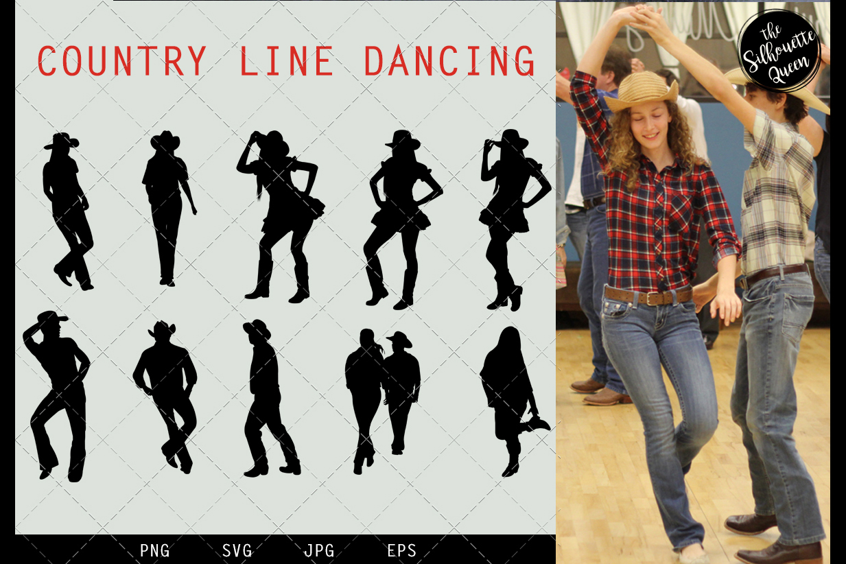 Country Line Dancing svg file, western svg cut file example image 1