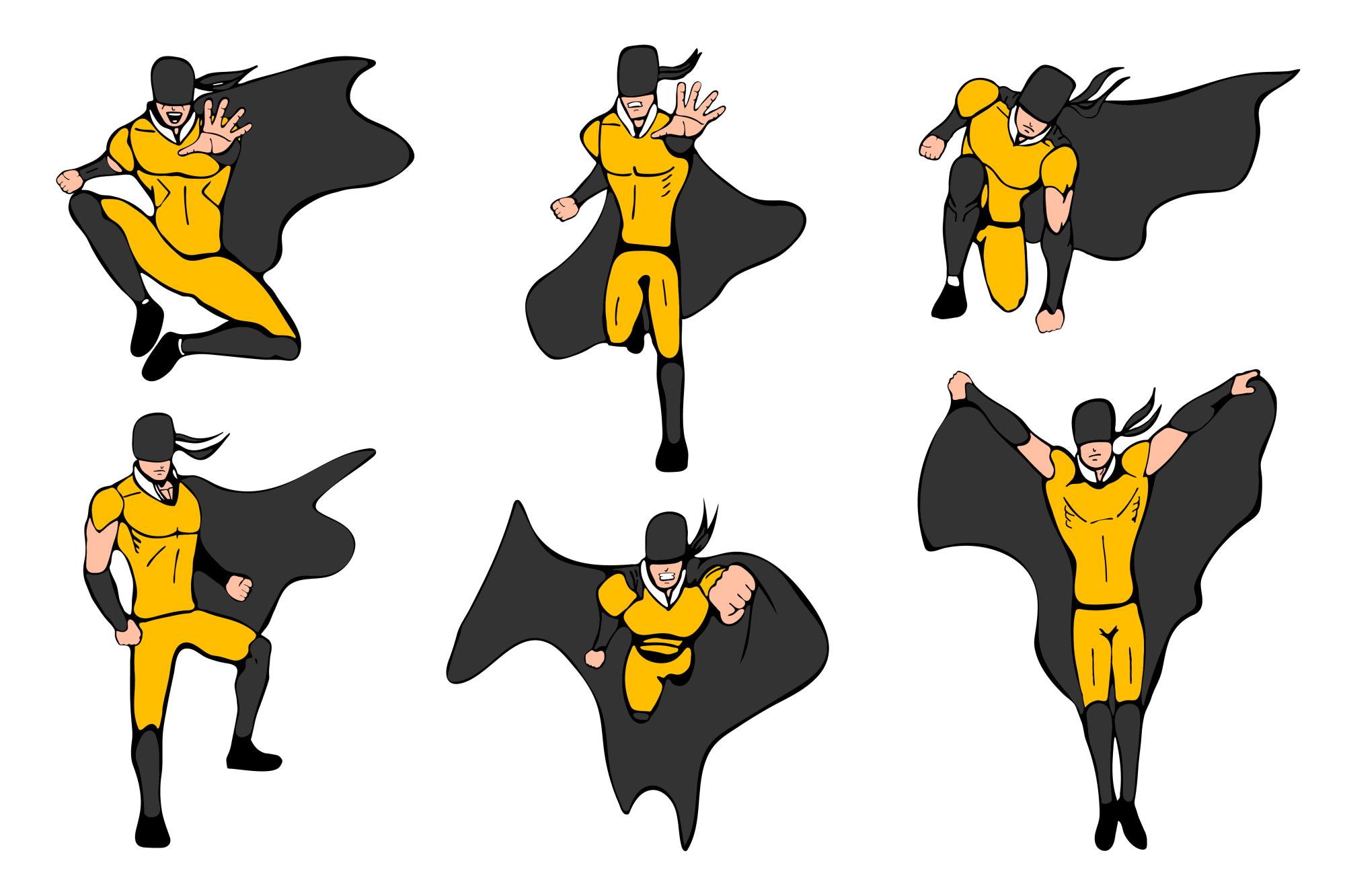 Superhero models in various poses. example image 4