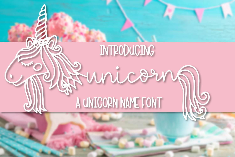 Unicorns - A Unicorn Name Maker Font example image 1