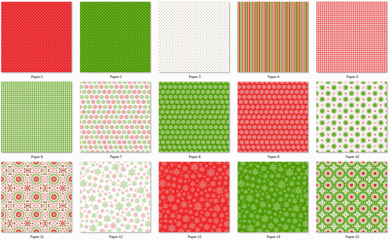 Red and Green Collection Papers 1 example image 2