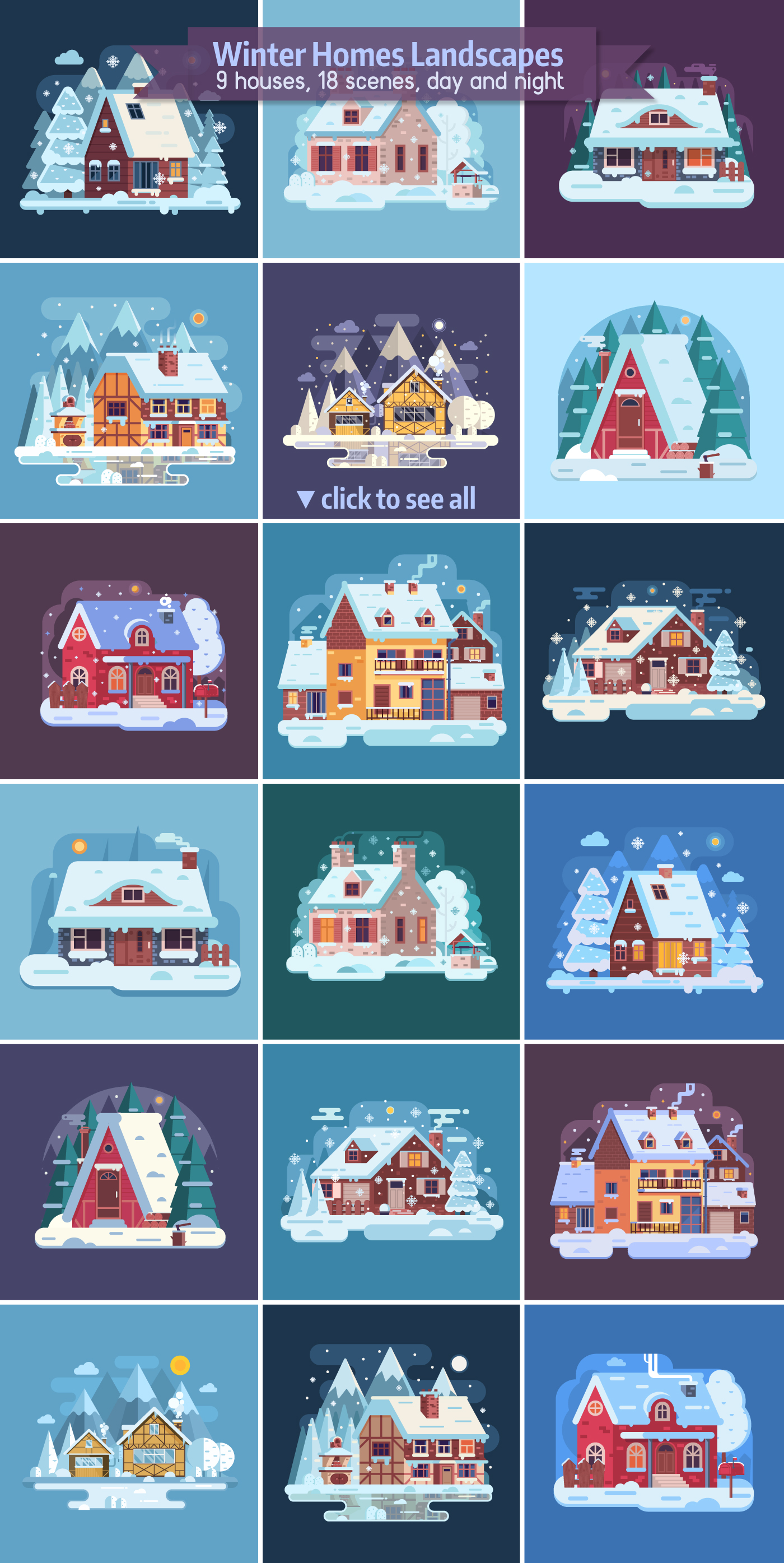 Winter Cozy House Collection example image 5
