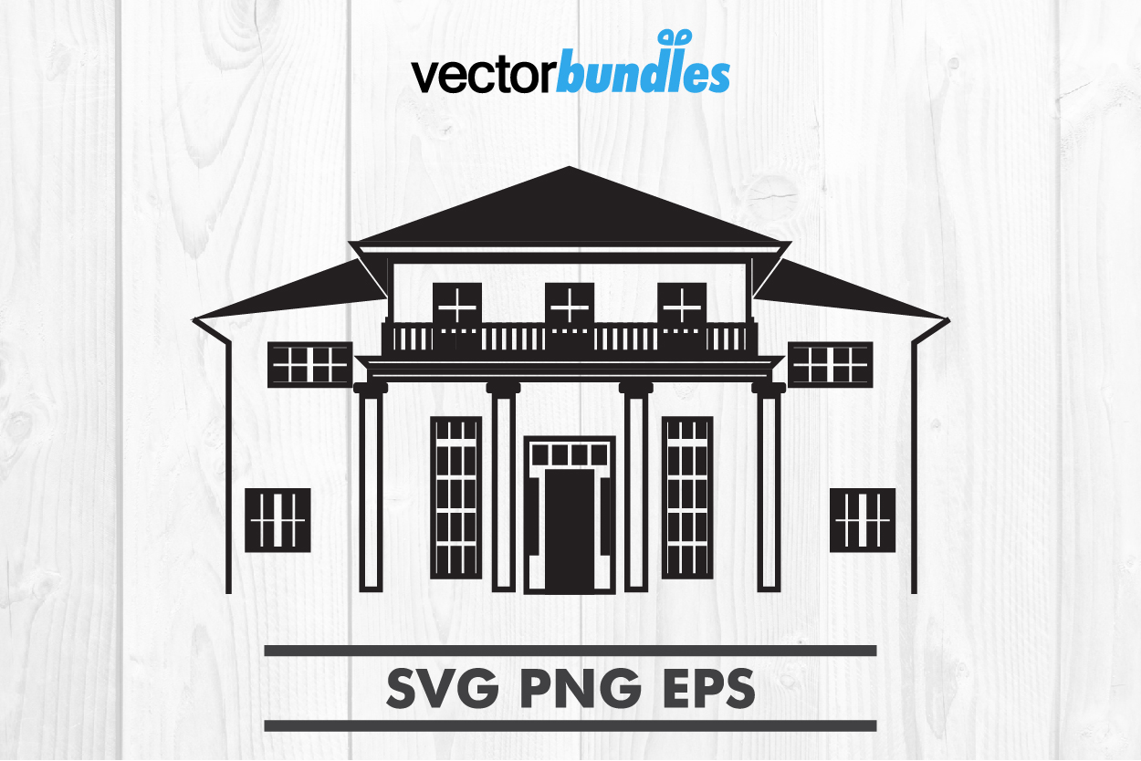Mansion house clip art svg example image 1