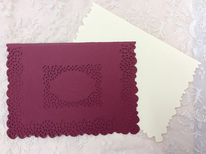 """Lacey cutwork edge 5x7"""" card example image 3"""
