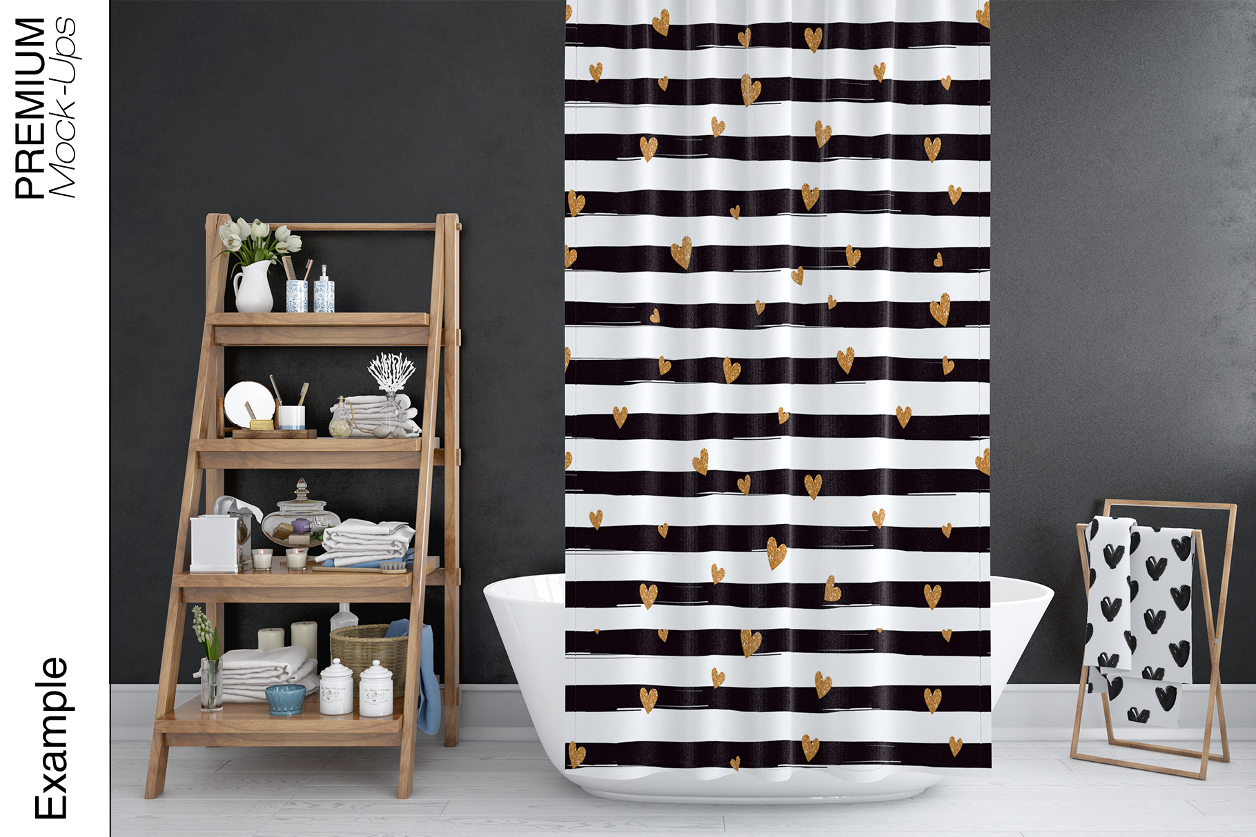 Bath Curtain Mockups example image 3