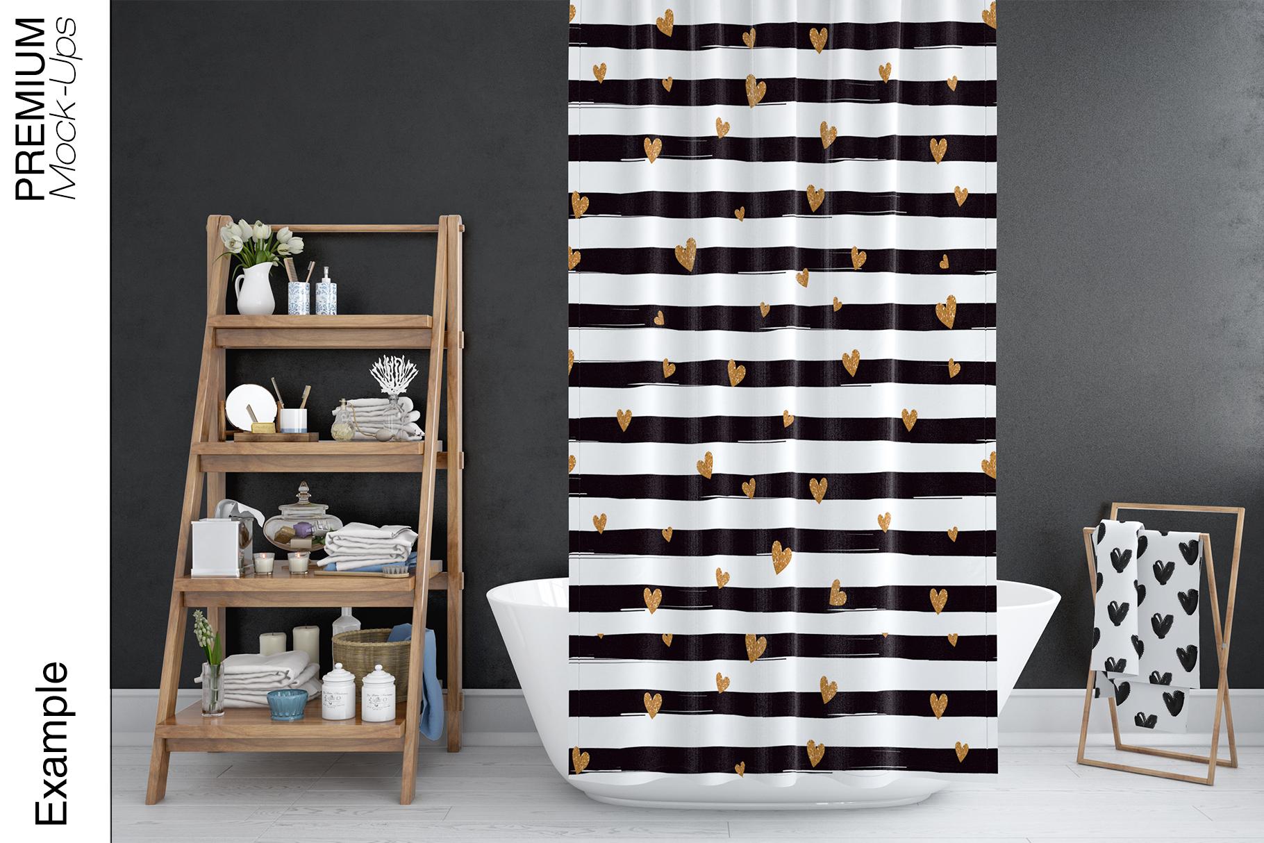 Bath Curtain Mockups example image 3