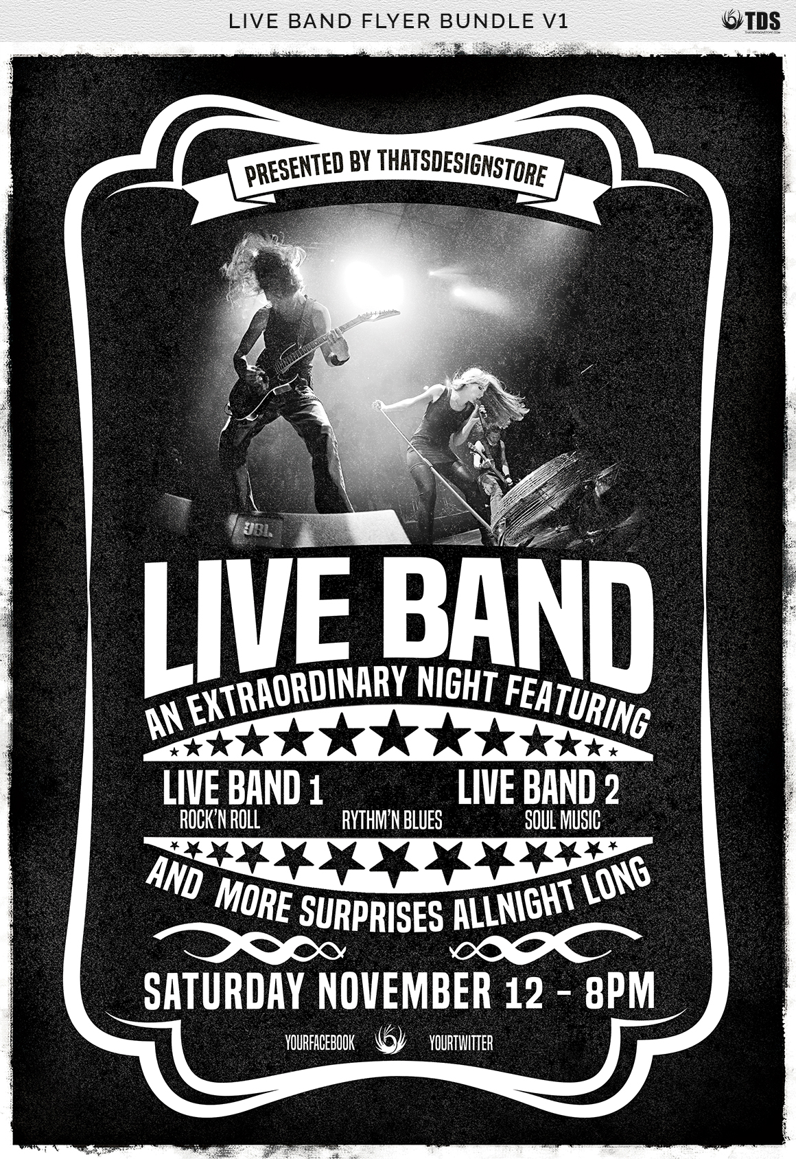Live Band Flyer Bundle V1 example image 7
