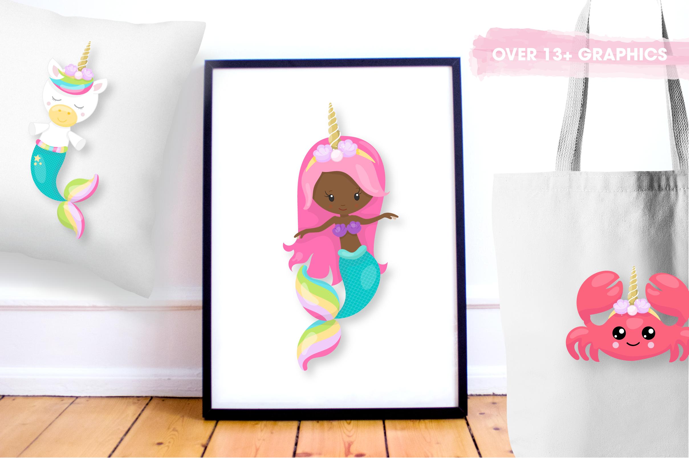 unicorn mermaid graphics and illustrations example image 2