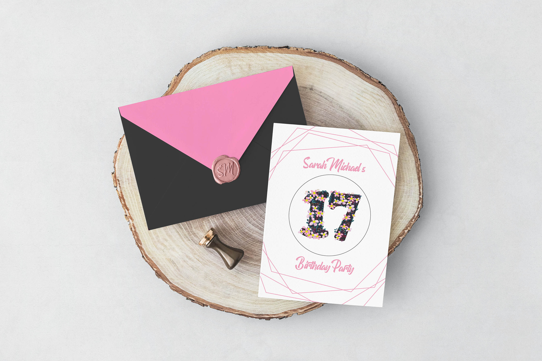 Pink Floral Number Font example image 3