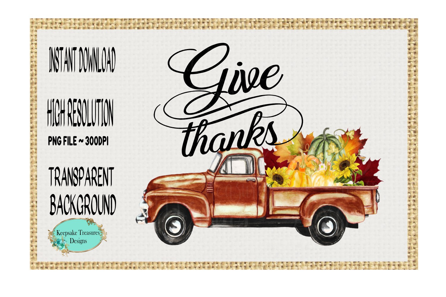 Give Thanks Vintage Truck example image 1