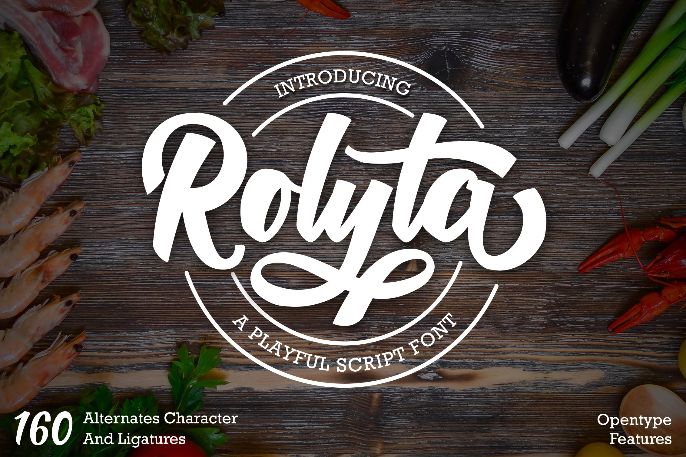 Rolyta - Playful Bold Script Font example image 1