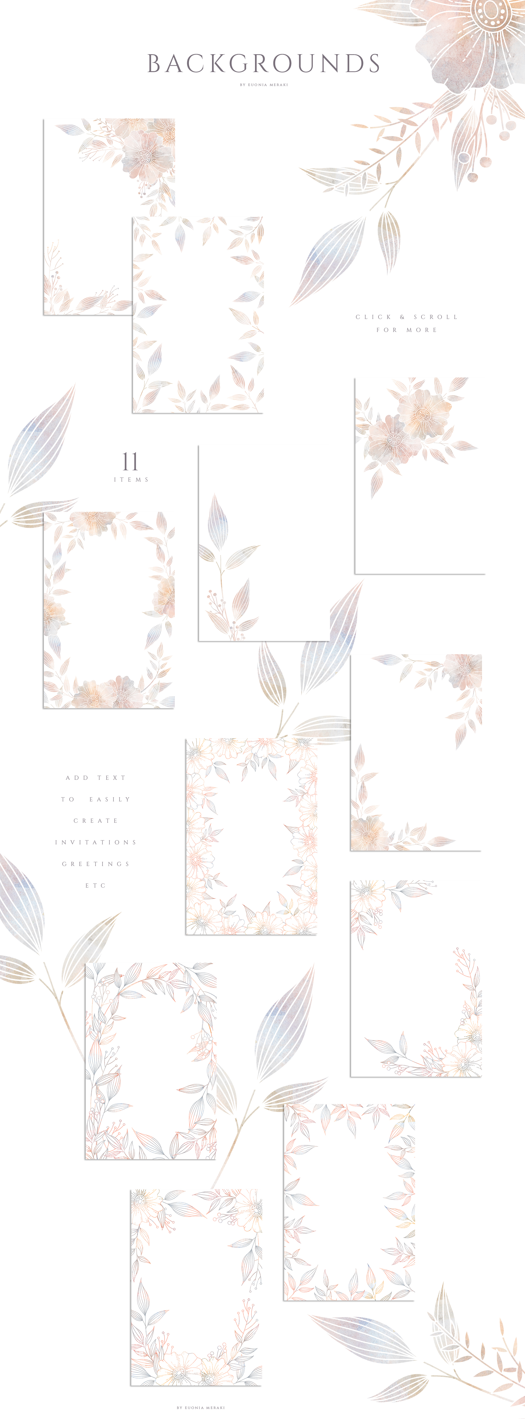 MISTY Dusty Floral Graphics and Monograms example image 7