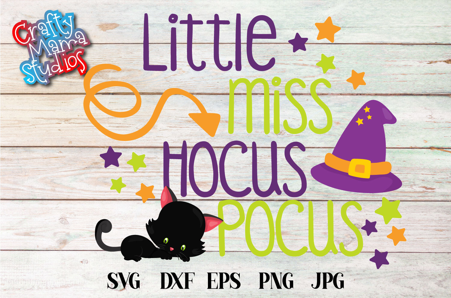 Little Miss Hocus Pocus SVG Sublimation, Halloween SVG example image 2